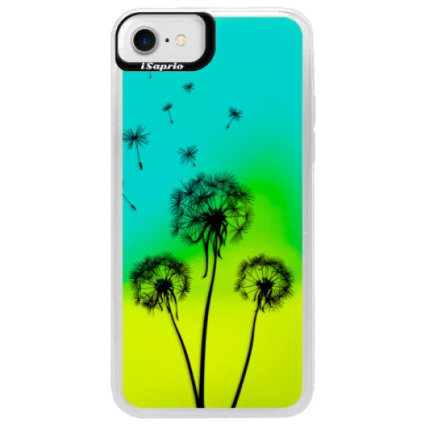 Neonové pouzdro Blue iSaprio – Three Dandelions – black – iPhone 7 Neonové pouzdro Blue iSaprio – Three Dandelions – black – iPhone 7