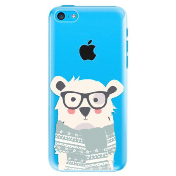 Plastové pouzdro iSaprio – Bear with Scarf – iPhone 5C Plastové pouzdro iSaprio – Bear with Scarf – iPhone 5C
