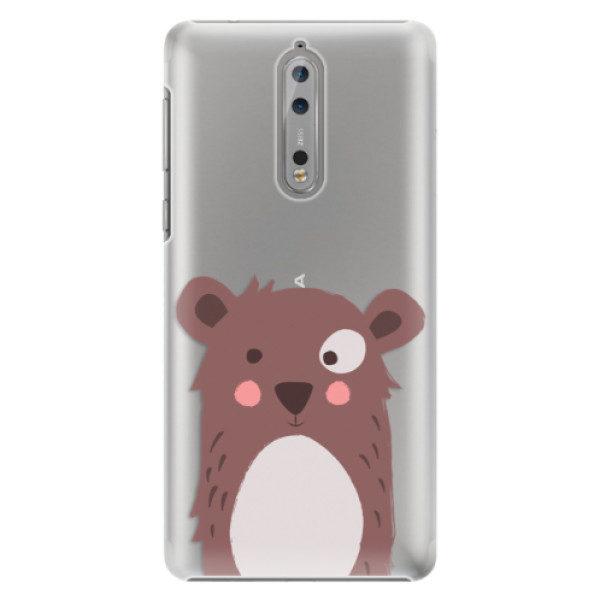 Plastové pouzdro iSaprio – Brown Bear – Nokia 8 Plastové pouzdro iSaprio – Brown Bear – Nokia 8