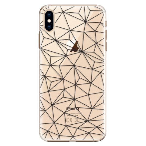 Plastové pouzdro iSaprio – Abstract Triangles 03 – black – iPhone XS Max Plastové pouzdro iSaprio – Abstract Triangles 03 – black – iPhone XS Max