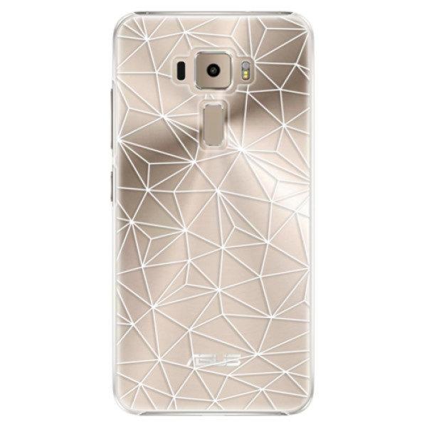 Plastové pouzdro iSaprio – Abstract Triangles 03 – white – Asus ZenFone 3 ZE520KL Plastové pouzdro iSaprio – Abstract Triangles 03 – white – Asus ZenFone 3 ZE520KL