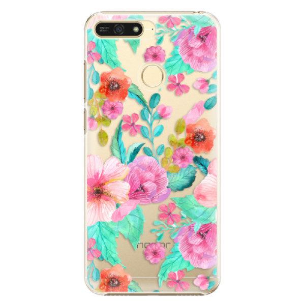 Plastové pouzdro iSaprio – Flower Pattern 01 – Huawei Honor 7A Plastové pouzdro iSaprio – Flower Pattern 01 – Huawei Honor 7A