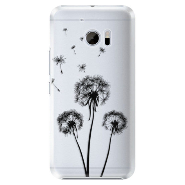 Plastové pouzdro iSaprio – Three Dandelions – black – HTC 10 Plastové pouzdro iSaprio – Three Dandelions – black – HTC 10