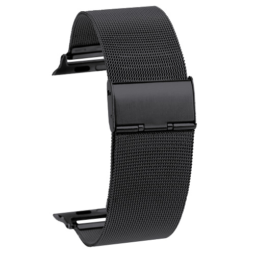 Kovový pásek / řemínek iSaprio Milanese Classic pro Apple Watch 38mm černý Kovový pásek / řemínek iSaprio Milanese Classic pro Apple Watch 38mm černý